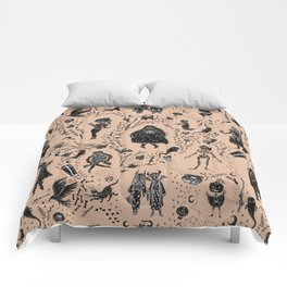 Creatures of the Night (orange) Comforters