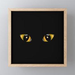 Halloween Cat Eyes Framed Mini Art Print