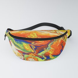 Abstract Painting. Fire. Lava Fanny Pack