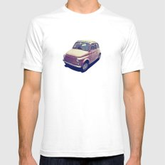 Fiat 500 - Italia Car Mens Fitted Tee SMALL White