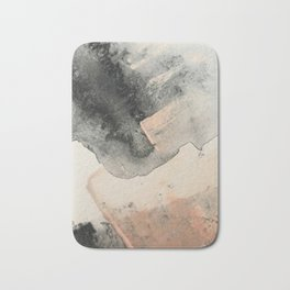 Peace and Quiet [2]: a pretty, minimal abstract piece in gray and peach by Alyssa Hamilton Art Badematte