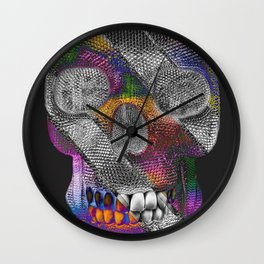Stripes Skelly Wall Clock