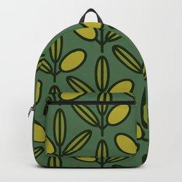 Mediterranean pattern - Olives 12 Backpack