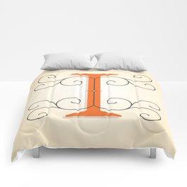 Letter I Initial Cap Comforters