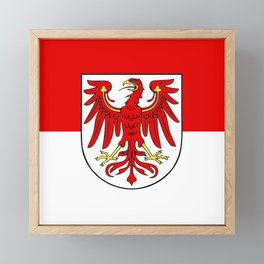 Flag of brandenburg Framed Mini Art Print