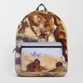 Frederic Remington - Episode of the Buffalo Gun - Digital Remastered Edition Backpack