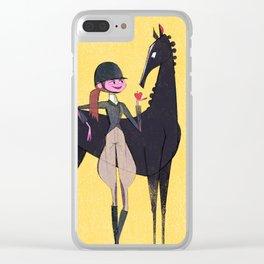 Equestrian Clear iPhone Case