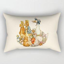Bedtime Story Animals Rectangular Pillow