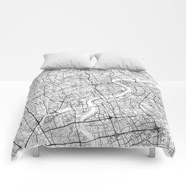 Shanghai Map White Comforters