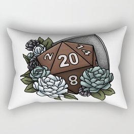Paladin Class D20 - Tabletop Gaming Dice Rectangular Pillow