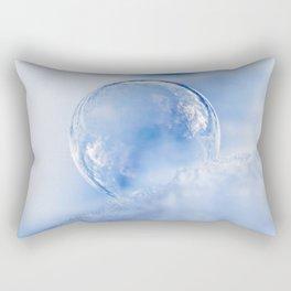 Blue Sky Bubble Rectangular Pillow
