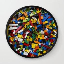 Bricks background Wall Clock