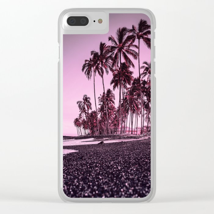 Palm trees 3 Clear iPhone Case