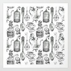 Alice Encounters Art Print