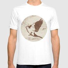 Bird MEDIUM Mens Fitted Tee White