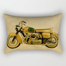 vintage old motorcycle Rectangular Pillow