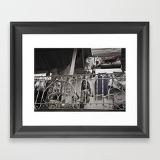 Girls playing in the balcony - Panamá  Framed Art Print