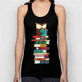 Owl Reading Rainbow Unisex Tank Top