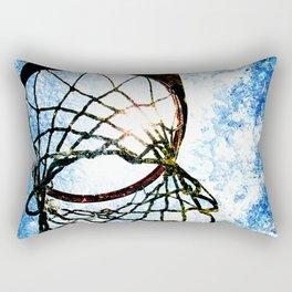 Basketball art spotlight vs 3 Rectangular Pillow