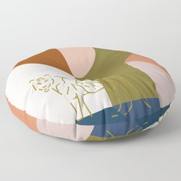 A Tiger in the Courtyard Floor Pillow