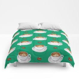 Coffee cups - green Comforters
