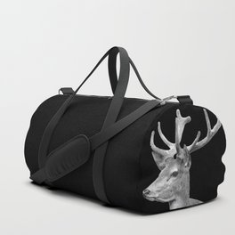 Deer Black Duffle Bag