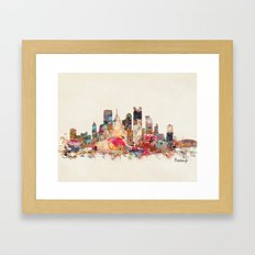 pittsburgh  Framed Art Print
