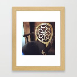 Found Chair Framed Art Print