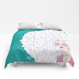 Puffball by Jane Davenport Comforters