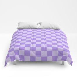 Lavender Check Comforters