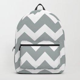 Chevron Grey & White Backpack
