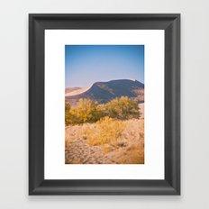 Autumn Sand Dune Framed Art Print