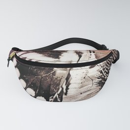 coneflower and butterfly Fanny Pack