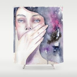 Among the stars Shower Curtain
