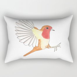 Robin In Flight Rectangular Pillow