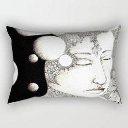 Troubled and peaceful sleep Rectangular Pillow