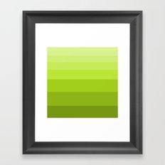 Shades of Green. Framed Art Print