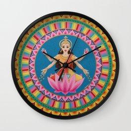 Goddess Lakshmi Mandala Wall Clock