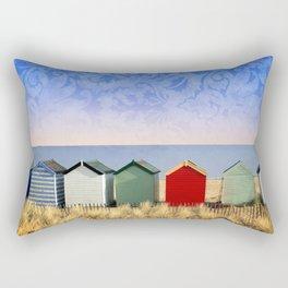 Beach Huts at Southwold (Suffolk/Great Britain) Rectangular Pillow
