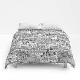 London toile black white Comforters