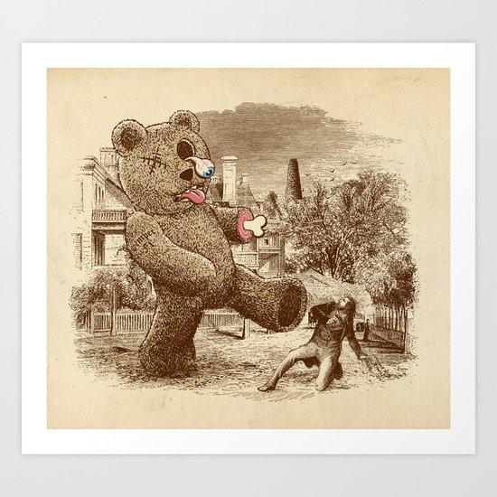 Teddy's Back! Art Print