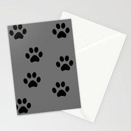Grey Pawprints Stationery Cards