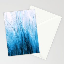 Feather Grass Blue Stationery Cards