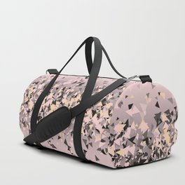 Strawberry dreams and pieces of dark chocolate, delicate blush pink geometric explosion Duffle Bag