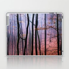 Foggy fall forest photography Laptop & iPad Skin