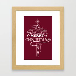The Wishing Christmas Tree Framed Art Print