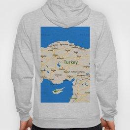 Turkey Map Design Hoody