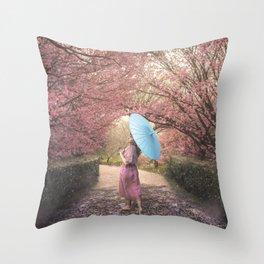 Sakura Parade Throw Pillow