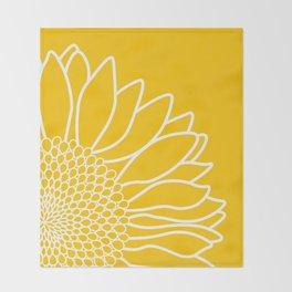 Sunflower Cheerfulness Throw Blanket
