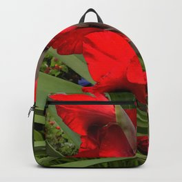 Heirloom Tomato Red Floral With Starburst Leaves Backpack